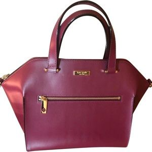 ♠️Kate Spade Savannah Parliament Maroon Satchel!